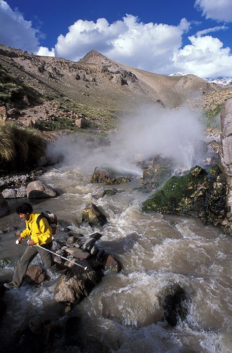 The hydrothermal system Domuyo - photo site Neuquen