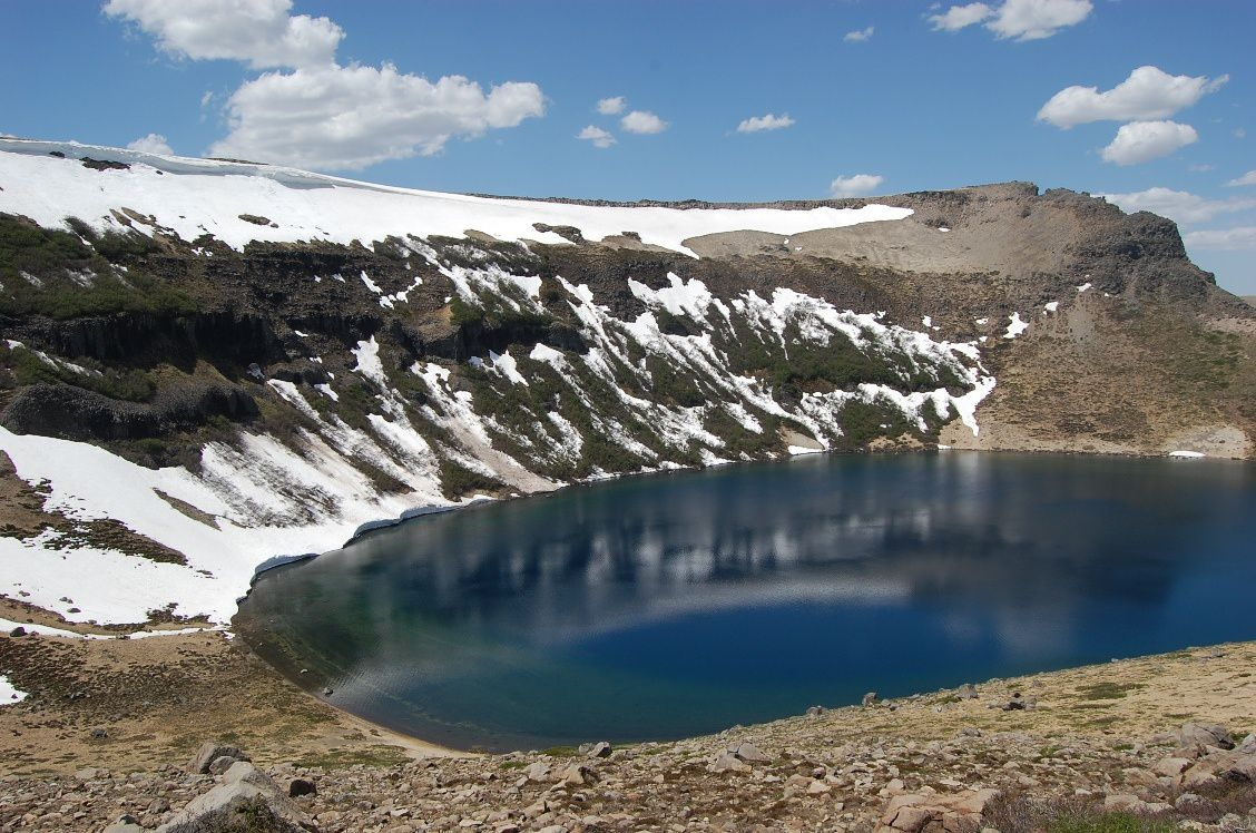 Crater and Lake Batea Mahuida - photo Terras Patagonias