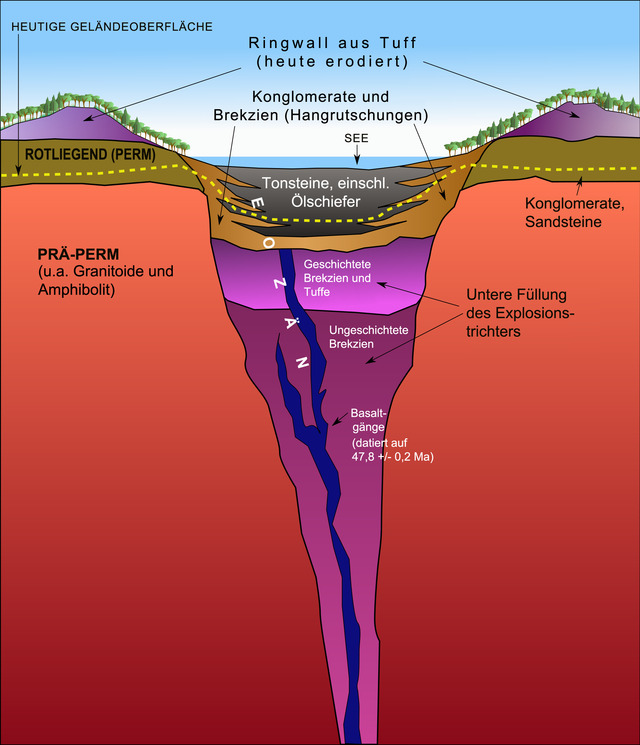 The Messel pit : maar and fossils.