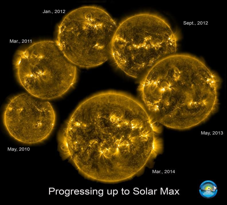 A l'approche du maximum cyclique d'intensité solaire - doc. Nasa Little SDO