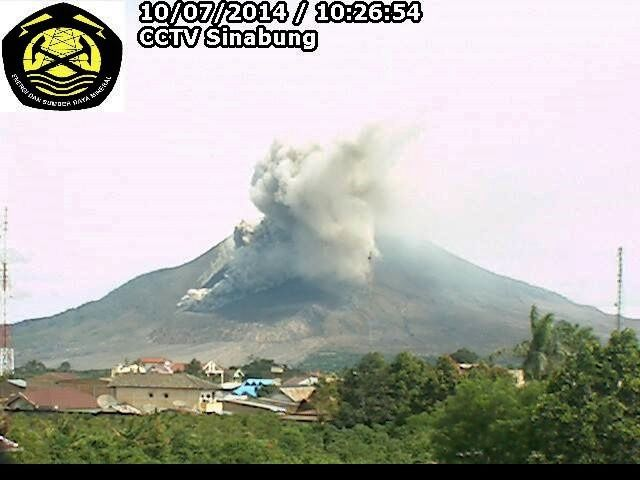 Sinabung - pyroclastic flow from 07/10/2014 - webcam VSI