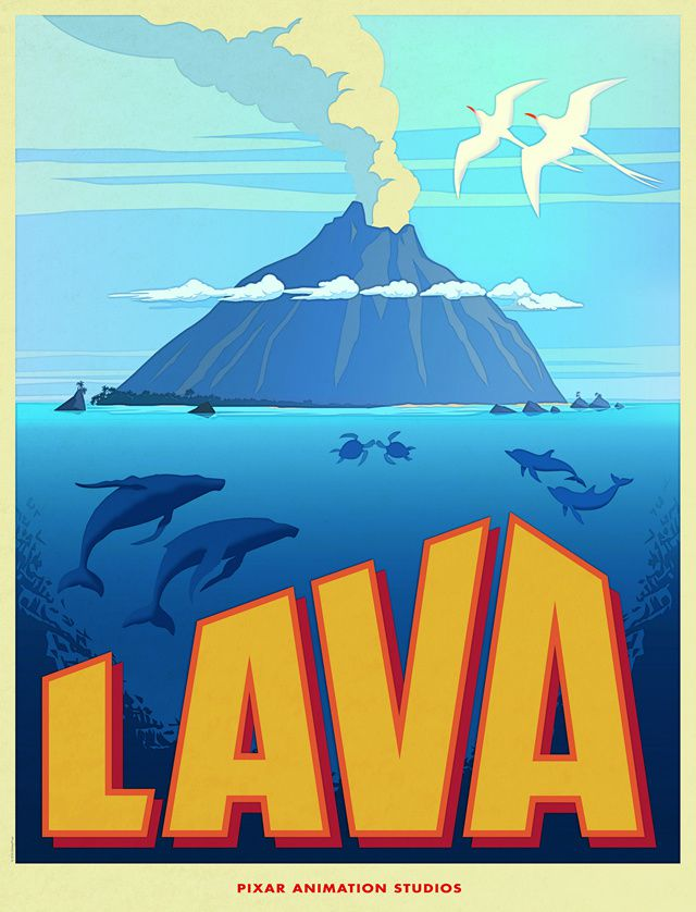 "Displays of  the short film ""LAVA"" by Pixar Animation Studios."