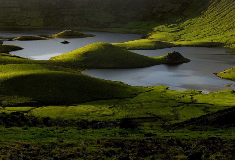 Corvo / Açores - la Caldeirão - photo Geoparque Azores