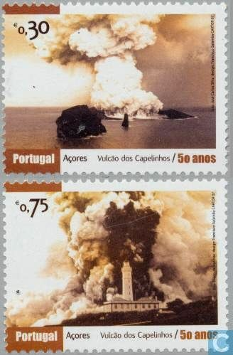 Stamps from the eruption of Capelinhos 1957 - 2007 issue