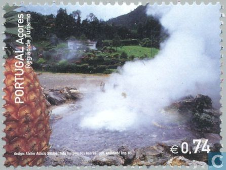 Hot spring on São Miguel -  2005 issue.