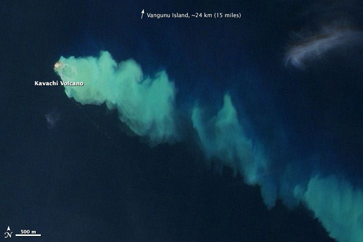 Kavachi - January 2014 eruption - doc. NASA EO-1 Ali 29/01/2014