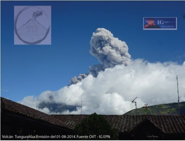 Tungurahua - 01.08.2014 - photo OVT - IGEPN