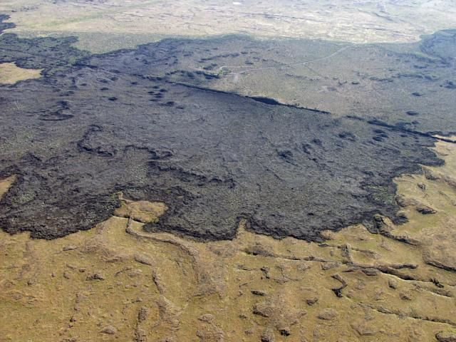The route of the Great Rift Valley in Idaho and the site of King's Bowl / King's Bowl lava field, cutting the rift - photo Susan Sakimoto in GVP (NASA, courtesy of Scott Hughes, Idaho State University).