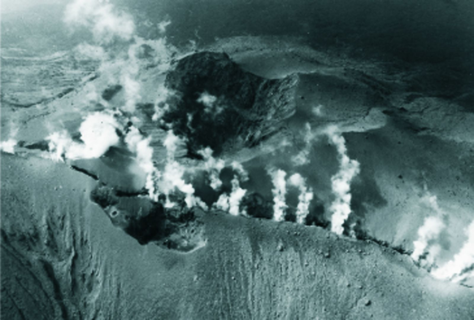 Kuchinoerabu-jima - fisssurale Eruption of Shindake - photo 10.10.1980 / doc.JMA