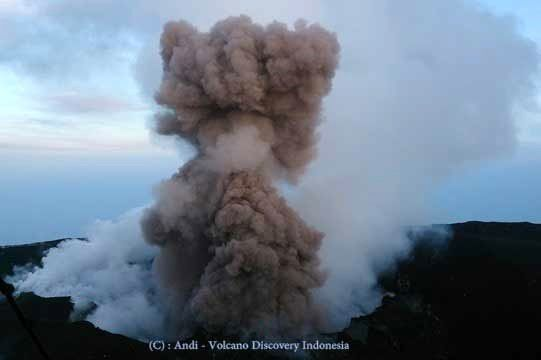 Gunung Slamet - 14 March 2014 - photo Andi / Guide Volcanodiscovery