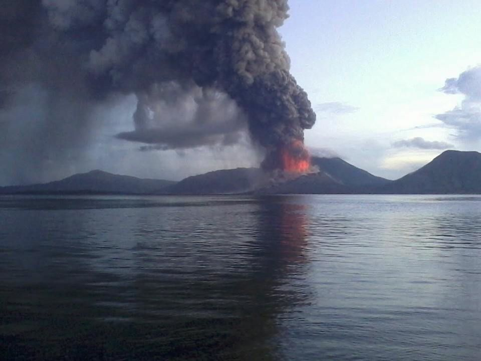 Tavurvur 29.08.2014 04h00 - photo Frank Dubo