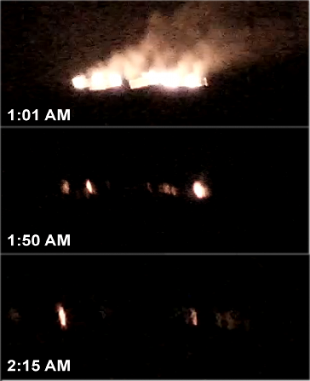 Eruption fissurale dans Holuhraun le 29.08.2014 - webcam Mila