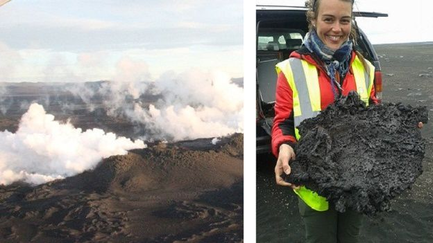 "Thorbjorg Ágústsdóttir, a doctoral student in geophysics at the University of Cambridge, garnered the first lava from the eruption in Holuhraun. Thorbjorg told to the RUV's reporter  that ""last night probably worth a whole year of learning."""