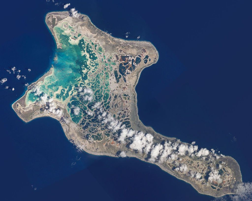 Kiritimati Island / Line islands - photo NASA ISS exp.4