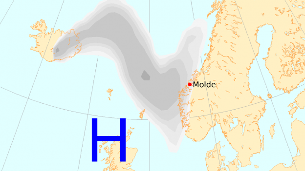 Above, the peak of sulfur dioxide emitted by the eruption fissure of the Holuhraun 10/09/2014 - doc.Environment Agency of Iceland. - One click to enlarge - - bottom, displacement gas cloud towards the coast Norwegian - Doc. IMO