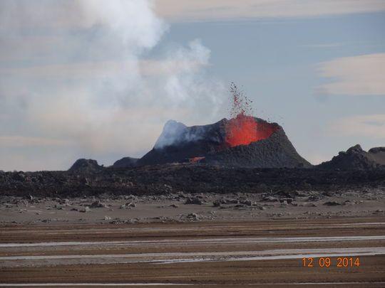 2014.09.12 - Le cratère Suðri - photo Ármann Höskuldsson.