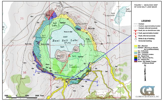 Map of Zuni Salt Lake - doc. GGI