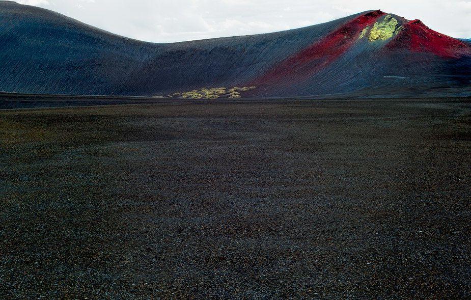 Système volcanique du  Bárðarbunga : la ligne de cratère appelée Vatnaöldur - photo Rajan Parrikar.