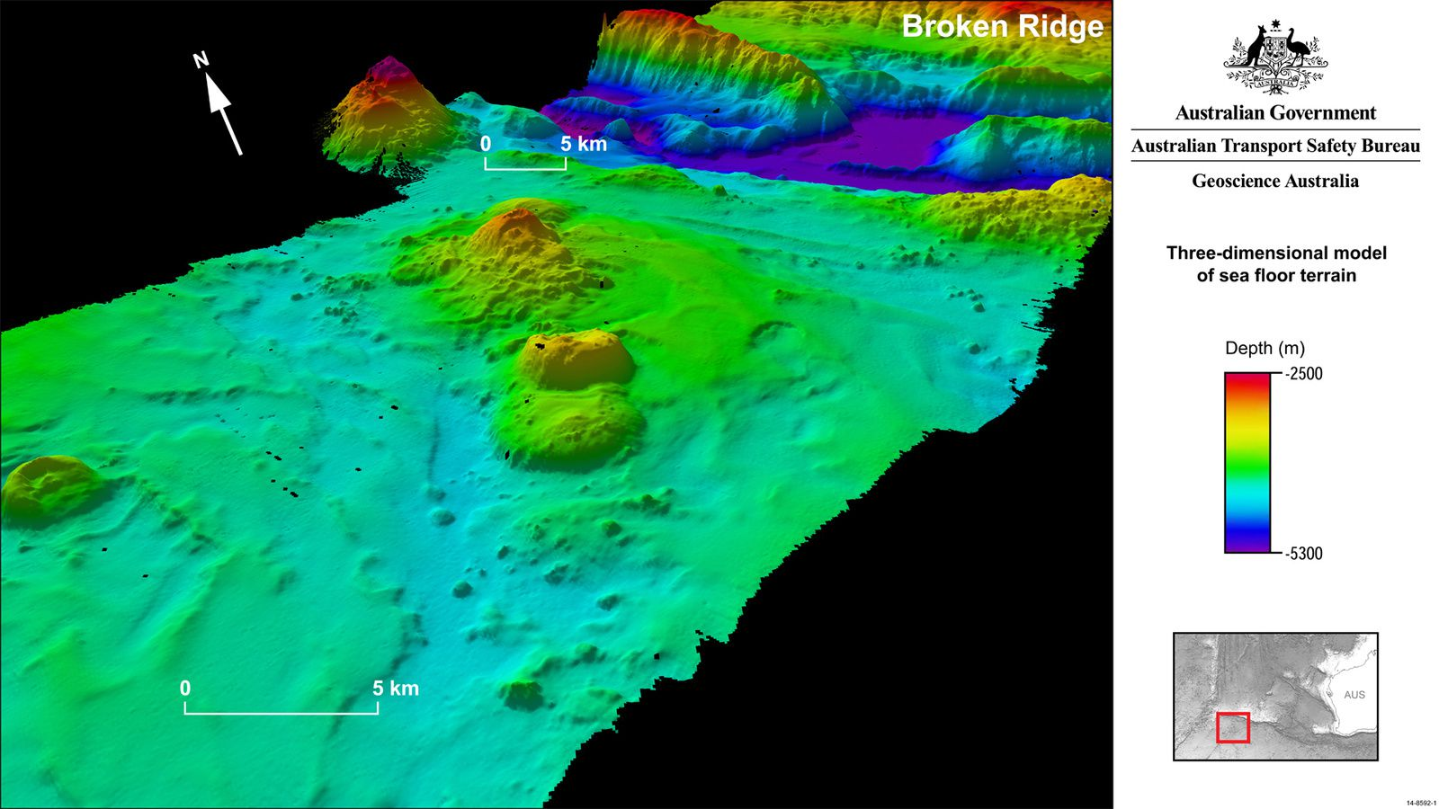New seamounts discovered on Broken Ridge.