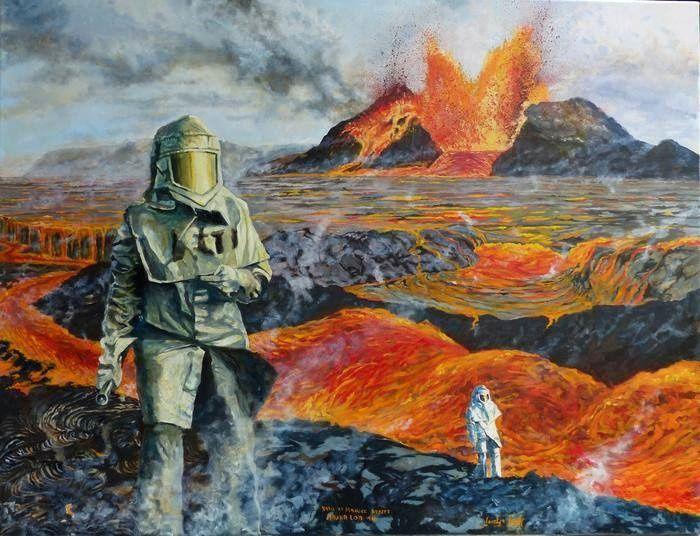 """""""Dans le chaudron du diable"""" -  huile sur toile (120cmx90cm) de Jocelyn Lardy - photo © Jocelyn Lardy"""