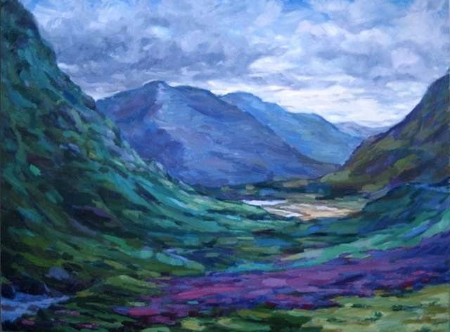 """ Glen Coe, Looking North "" - toile de Catriona Herd -  120 x 76 cm - doc. Artpistol"