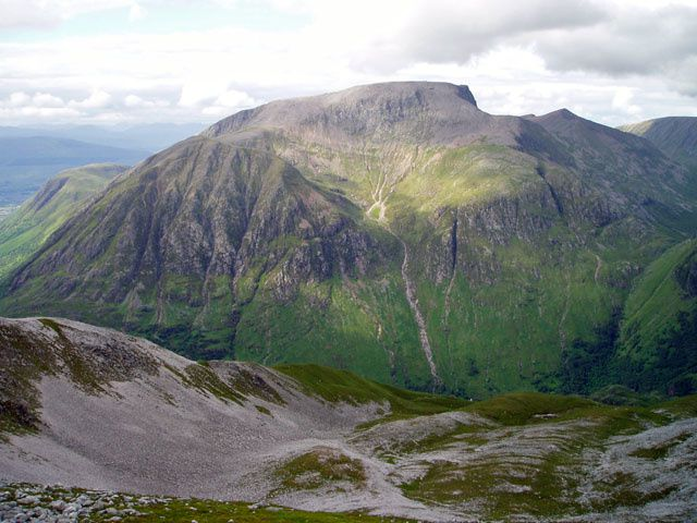 Ben Nevis, facing south - photo Blisco.