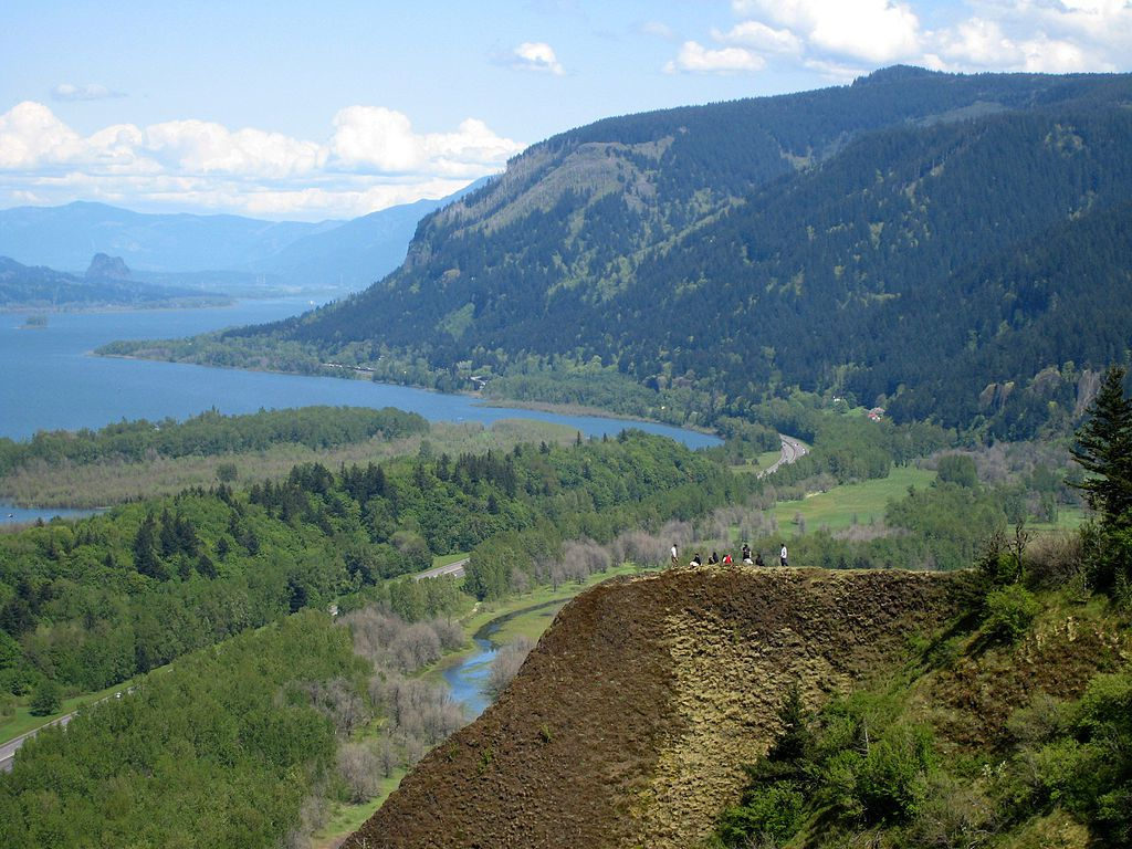 La gorge de la Columbia river, vue de Crown Point, point atteint par les inondations - photon HUX.