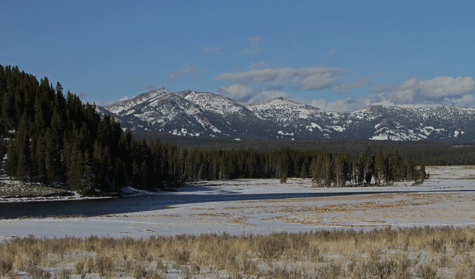 Le Washburn Range ,vu depuis Hayden Valley -  photo Yellowstone National Park 2014