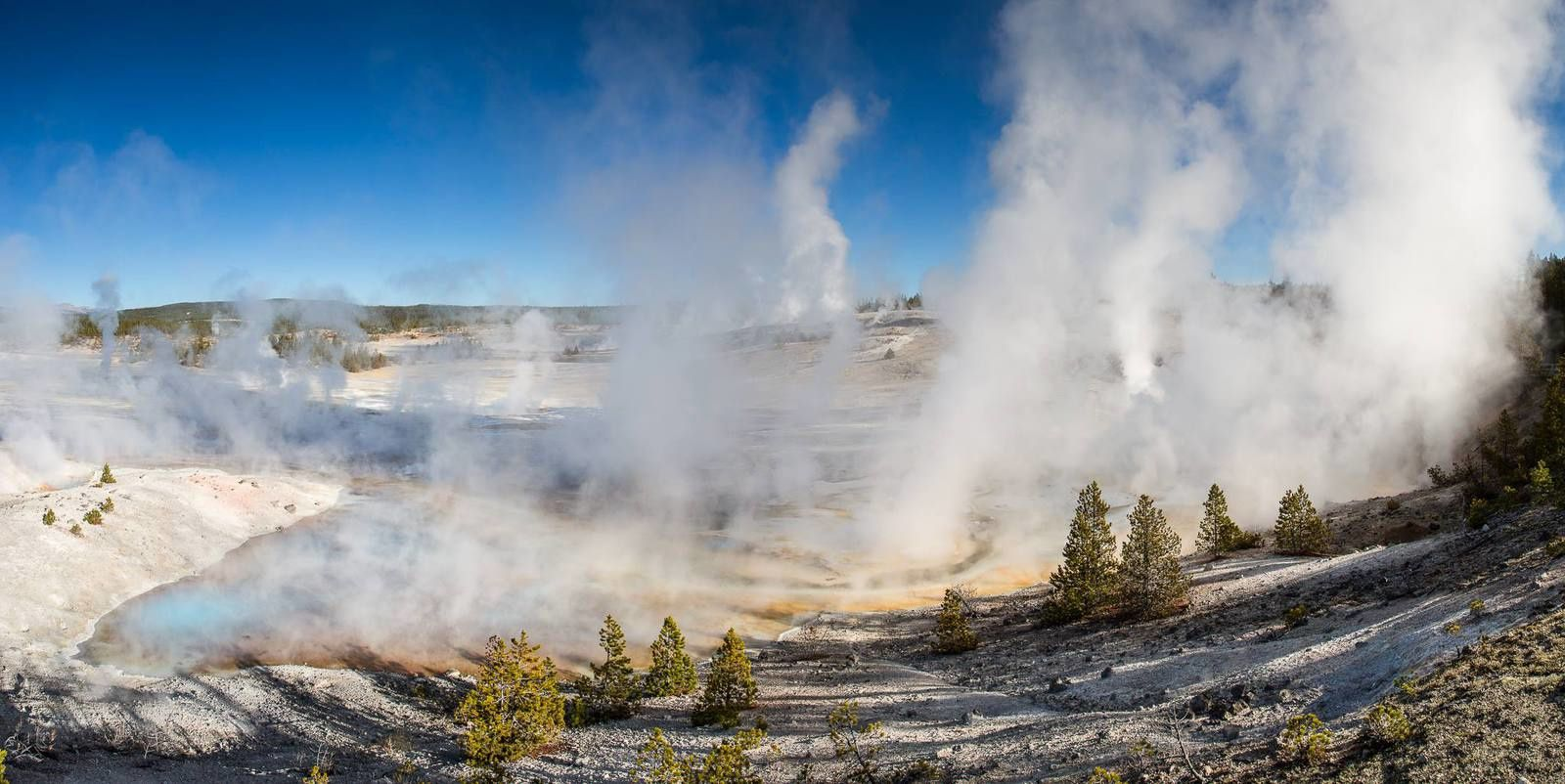 Norris Geyser basin  -  photo Yellowstone National Park 2014