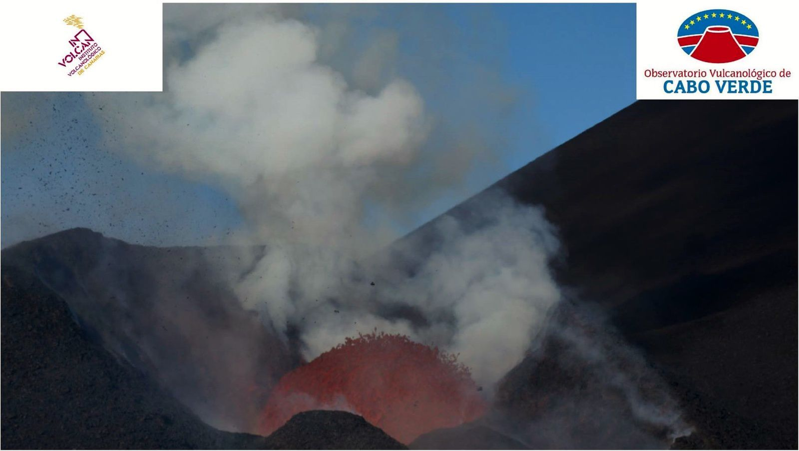 Fogo - continuous eruption.