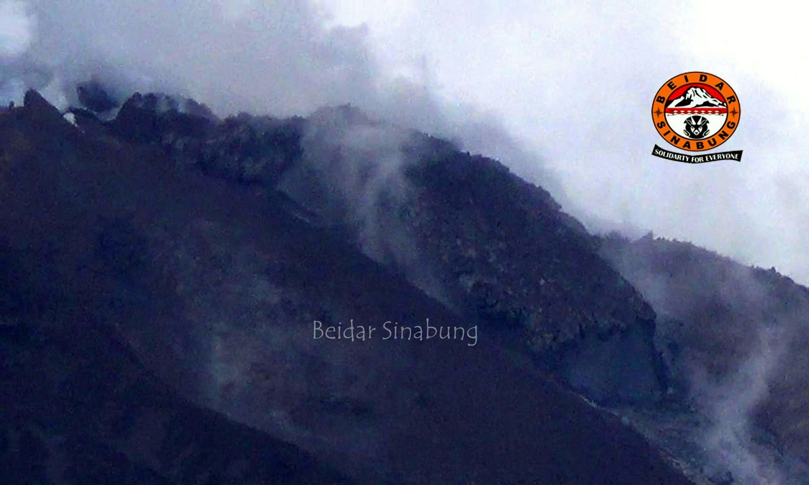 Sinabung - the lava dome involved in collapses and pyroclastic flows - photo Beidar Sinabung