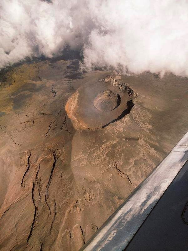 Popocatepetl - Overview of 12.19.2014 - The summit crater is occupied by a new dome - photo CENAPRED