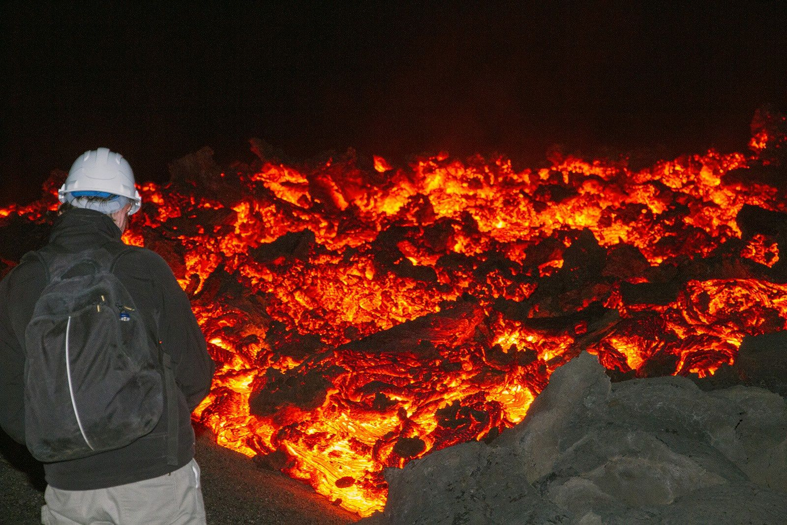 Fogo - lava flow - photo Pascal Blondé, back from the second trip Special Eruption with Adventure and volcanoes.