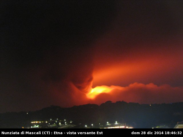 Etna - 28.12.2014 / 18h46 - photo webcam_nunziata.php