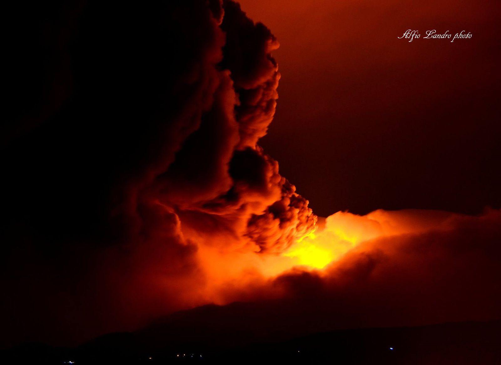 L' Etna vu de Fiumeffredo -  photo Alfio Lando 28.12.2014