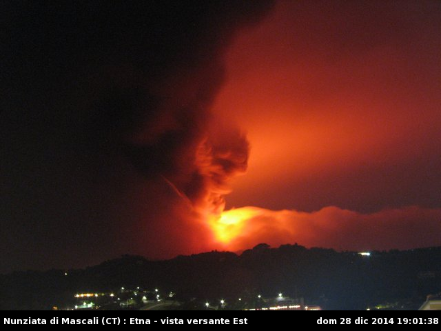 Etna - 28.12.2014 / 19h01 - photo webcam_nunziata.php