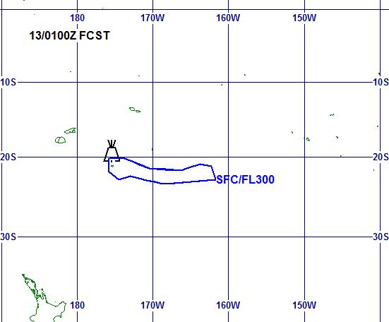 Hunga Ha 'Hapai - ash advisory 12.01.2015 / doc VAAC Wellington