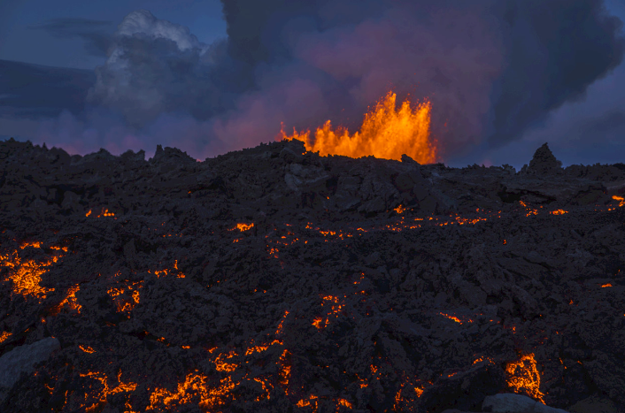 Holuhraun - le champ de lave - photo Páll Stefánsson / Iceland review.