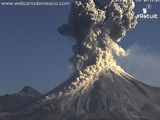 Colima / Mexique - 21.01.2015 / 9h15 - photo webcamsdemexico