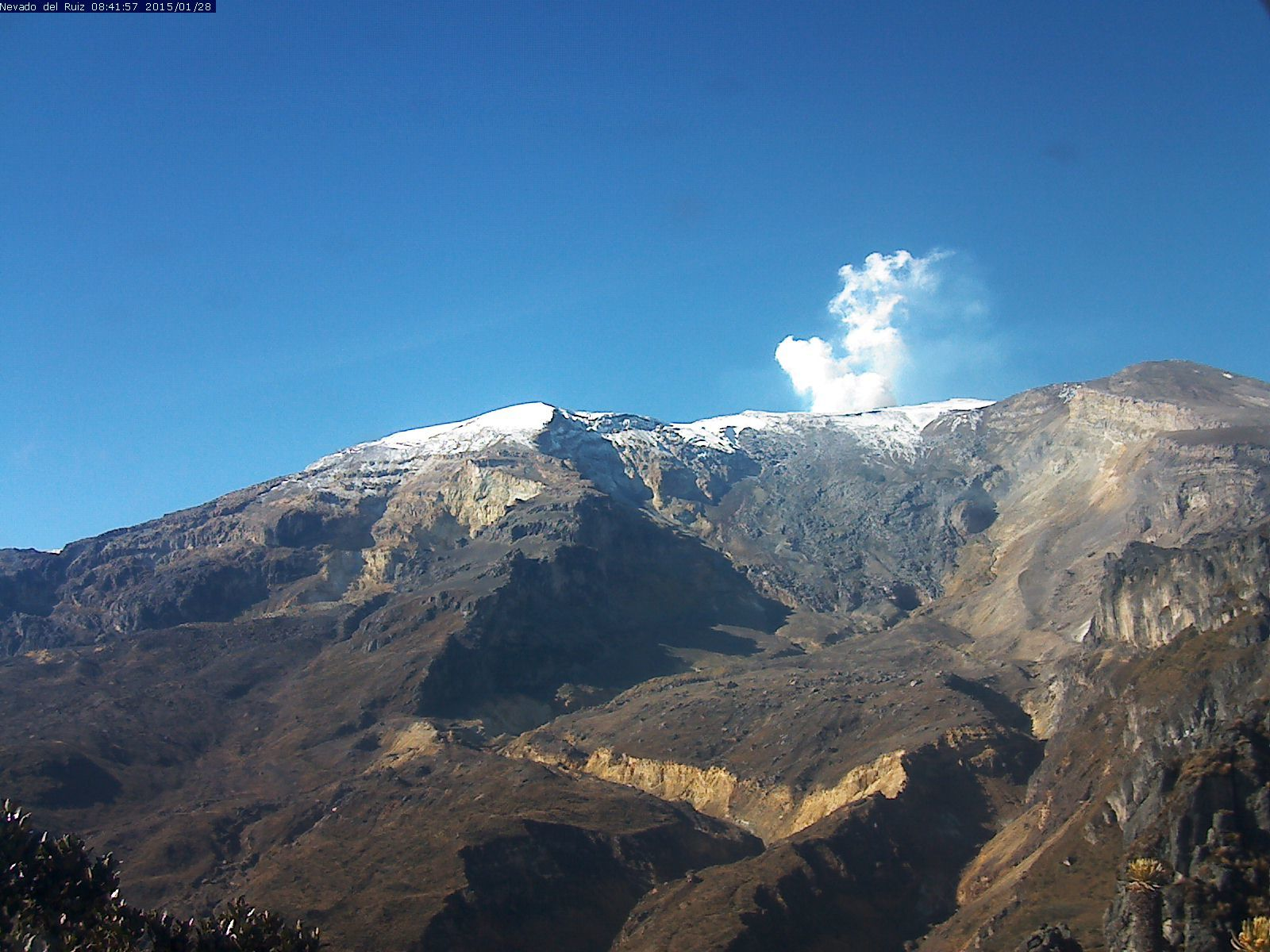 Nevado del Ruiz - 28.01.2015 / 8:40 - photo SGC Manizales