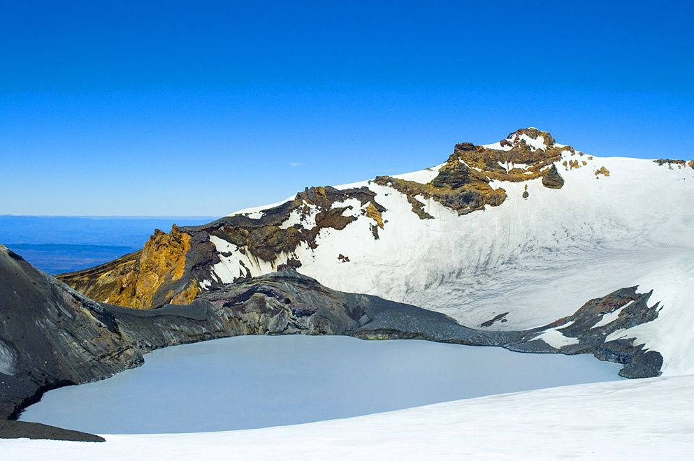 Ruapehu's Crater Lake - photo J.Shook