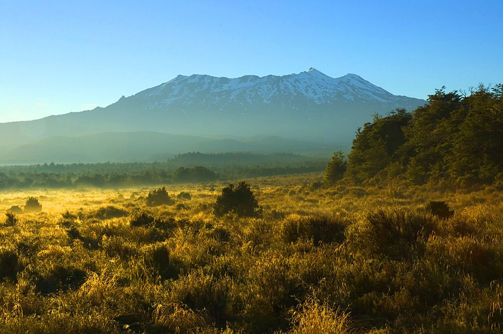 The massif of Ruapehu - photo J.Shook