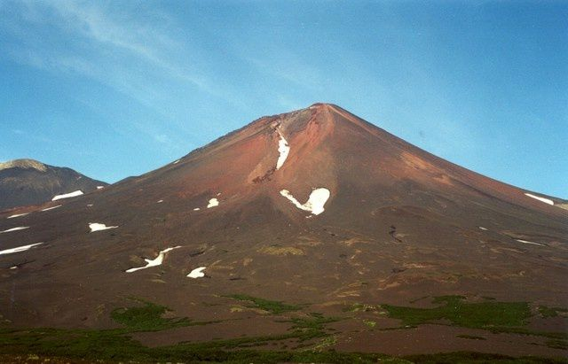 Le volcan Chikurachki - photo A.Belousov