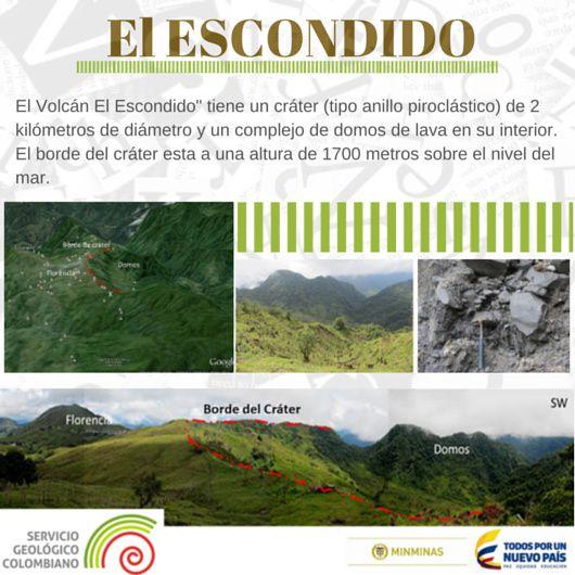 El Escondido, a new volcano - Observatorio volcanologico de Manizales