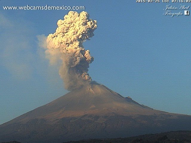 Popocatepetl - 25.02.2015 / 7h16 - photo webcamsdemexico