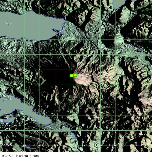 Villarica - anomalie thermique du 02.03.2015 - doc. MODVOLC