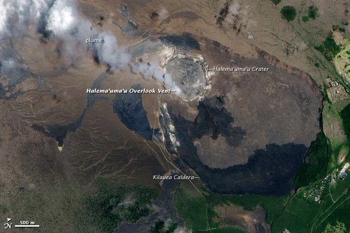 La caldeira sommitale du Kilauea - Nasa / Ali 15.07.2010