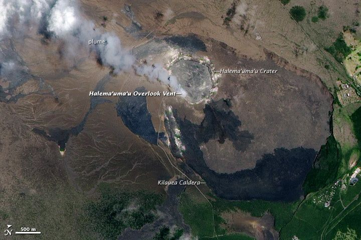 The summit caldera of Kilauea - Nasa / Ali 15.07.2010