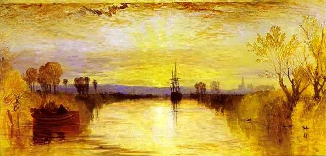 """Chichester Canal""  par J. M. W. Turner (vers 1828)"