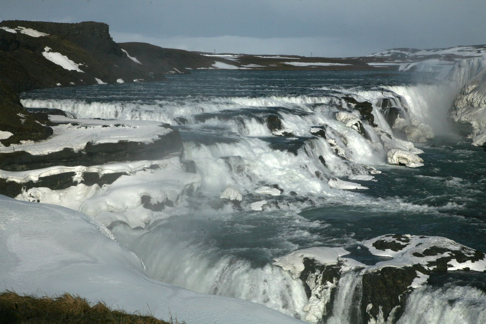 Gullfoss - the stairs down by the waters of Hvítá river - Photo © Bernard Duyck 2015